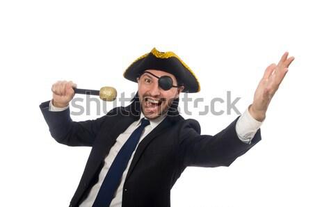 Jonge piraat zwaard geïsoleerd witte Stockfoto © Elnur