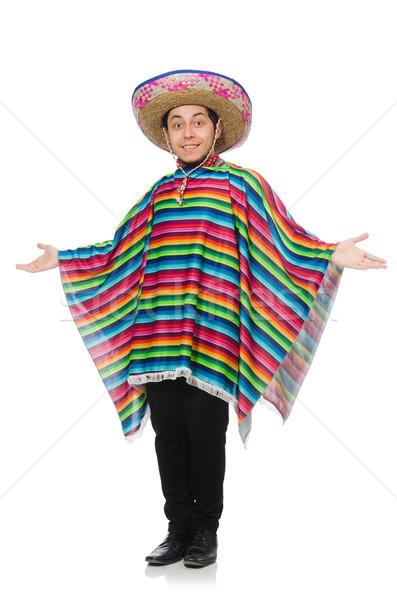 Grappig Mexicaanse geïsoleerd witte man Stockfoto © Elnur