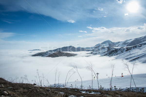 гор зима Азербайджан пейзаж снега синий Сток-фото © Elnur