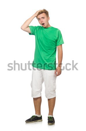 Funny student isolated on white Stock photo © Elnur