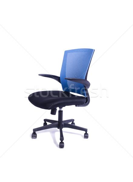 Mavi ofis koltuğu yalıtılmış beyaz ofis dizayn Stok fotoğraf © Elnur