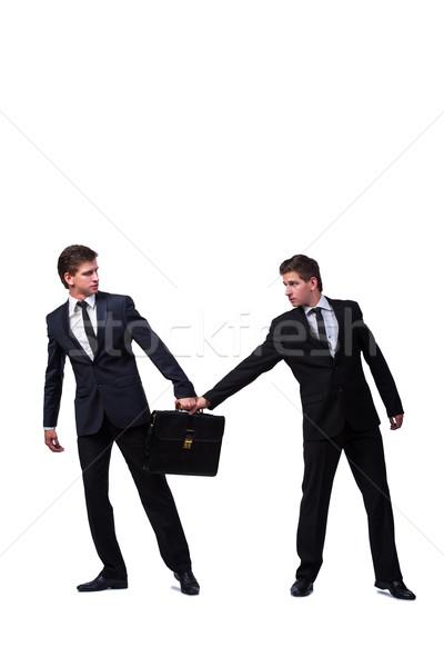 Kettő ikrek üzletemberek veszekedik egyéb izolált Stock fotó © Elnur