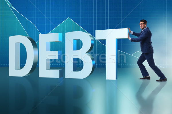Businessman in debt business concept Stock photo © Elnur