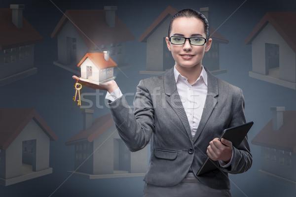 деловая женщина жилье ипотечный бизнеса женщину служба Сток-фото © Elnur
