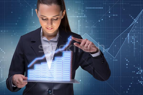 女性実業家 在庫 取引 ビジネス お金 作業 ストックフォト © Elnur