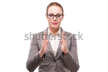 The strict serious businesswoman isolated on white Stock photo © Elnur