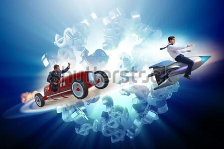 Zakenman rijden vintage roadster business Stockfoto © Elnur