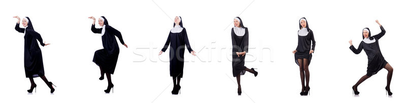 The pretty nun isolated on white Stock photo © Elnur
