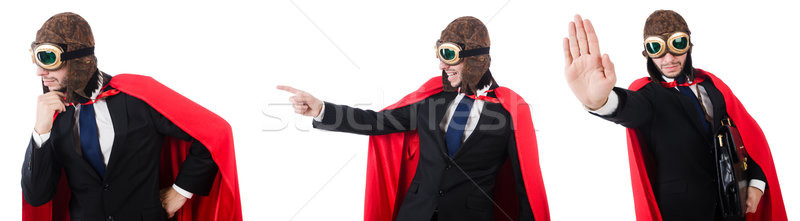 The man in red cover isolated on white Stock photo © Elnur