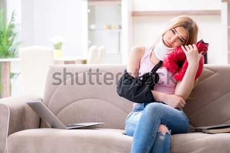 Broken woman heart in relationship concept Stock photo © Elnur