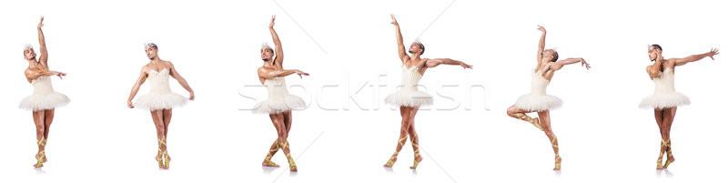Man in ballet tutu isolated on white Stock photo © Elnur