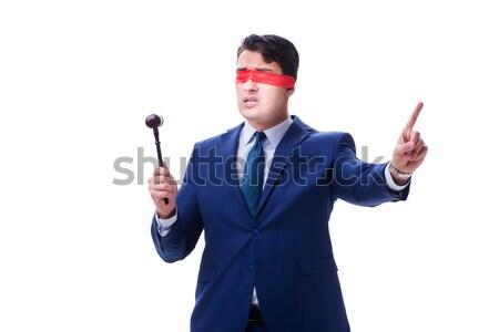 Rechtsanwalt halten Hammer isoliert weiß Geld Stock foto © Elnur