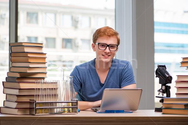 Fiatal diák iskola vizsgák könyv orvos Stock fotó © Elnur