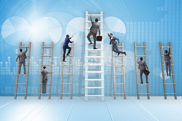 Career progression concept with various ladders Stock photo © Elnur