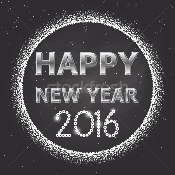 Design 1 happy new year 2016 Stock photo © Elsyann