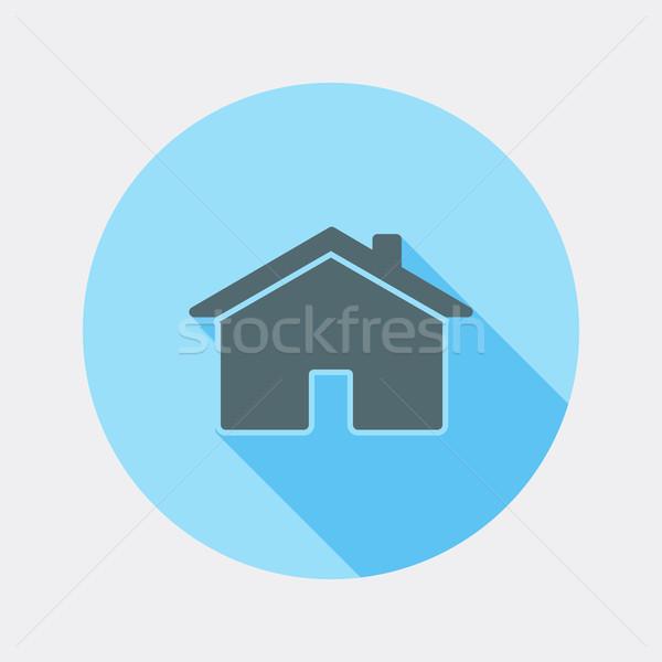 Dizayn ev ikon uzun gölge örnek Stok fotoğraf © Elsyann