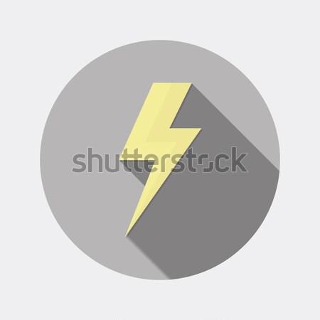 Design flash éclairage icône longtemps ombre Photo stock © Elsyann