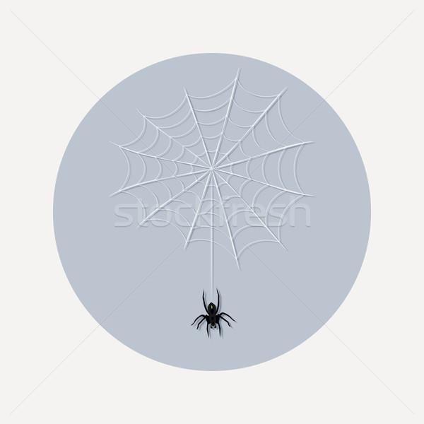 Dizayn örümcek ağı ikon örnek stil halloween Stok fotoğraf © Elsyann