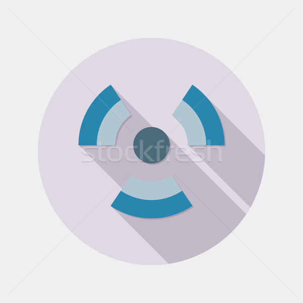 Flat design radioactivity symbol icon with long shadow Stock photo © Elsyann