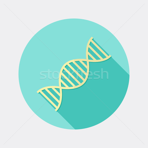 Flat design science and medicine DNA icon with long shadow Stock photo © Elsyann