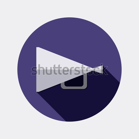 Flat design megaphone icon with long shadow Stock photo © Elsyann
