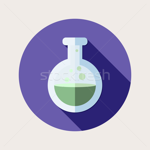 Flat design poison mixture icon with long shadow Stock photo © Elsyann