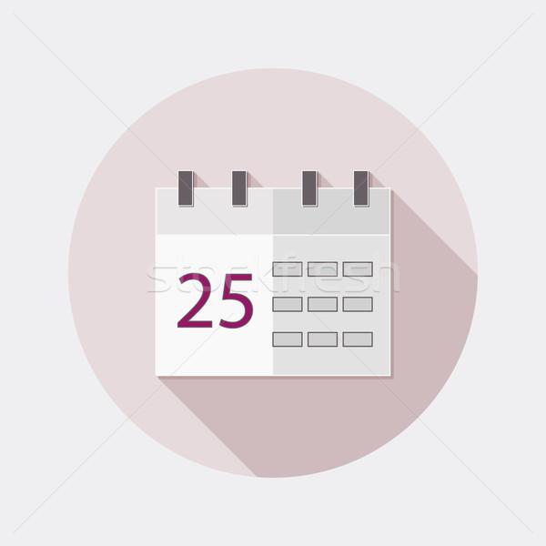 Diseno calendario aplicación número 25 icono Foto stock © Elsyann