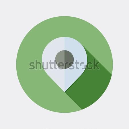 Dizayn harita ikon uzun gölge örnek Stok fotoğraf © Elsyann