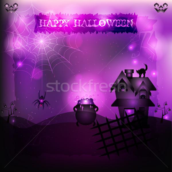 Büyücülük halloween örnek gizemli yer cadı Stok fotoğraf © Elsyann