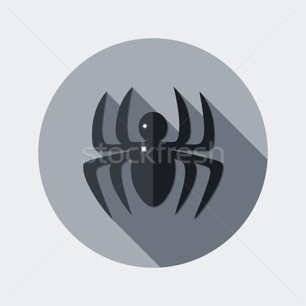 Stok fotoğraf: Dizayn · örümcek · ikon · uzun · gölge · örnek