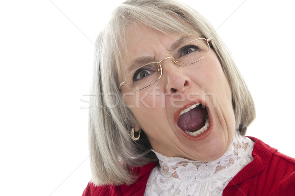 Mature woman yelling Stock photo © elvinstar