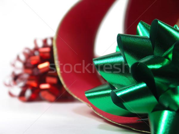 Navidad rojo verde arco Foto stock © elvinstar