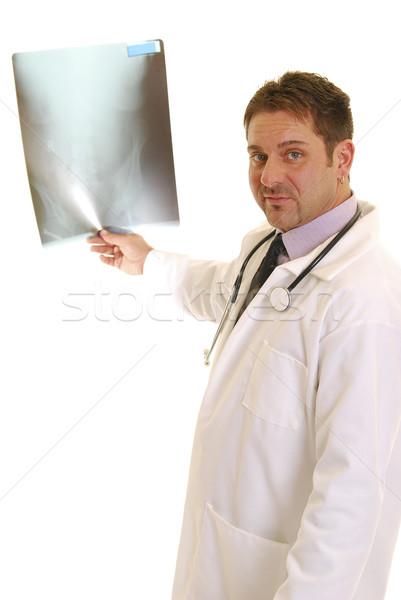 Stockfoto: Arts · Xray · geïsoleerd · witte · medische · lezing