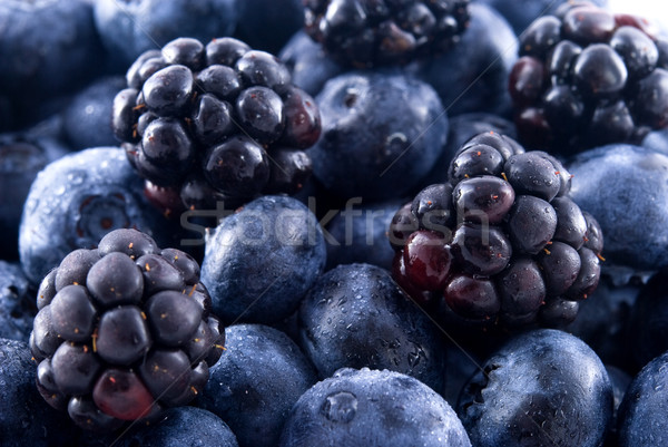 Blackberries and blueberries in a pile  Stock photo © elvinstar