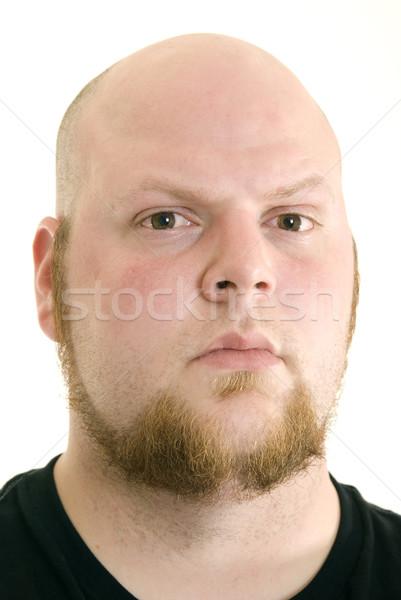 Difícil cara retrato zangado olhando caucasiano Foto stock © elvinstar