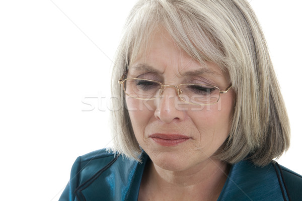 Sad mature woman Stock photo © elvinstar