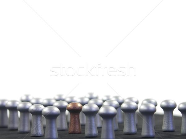 Kalabalık altın ordu gümüş Stok fotoğraf © elvinstar