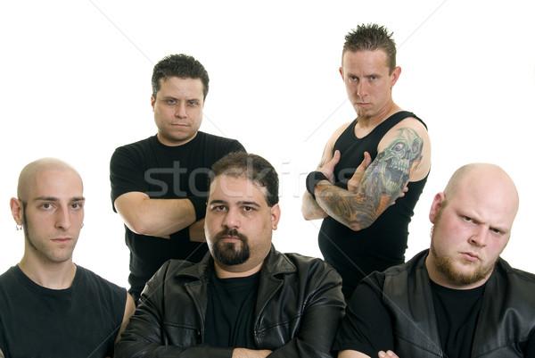 Heavy metal banda grupo caucasiano homens Foto stock © elvinstar