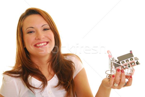 Compra casa atractivo caucásico mujer Foto stock © elvinstar