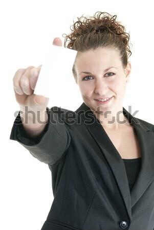 Mi tarjeta atractivo caucásico mujer Foto stock © elvinstar