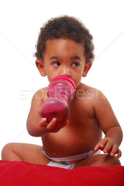 Foto stock: Bebé · potable · nino · ojos · nino · beber