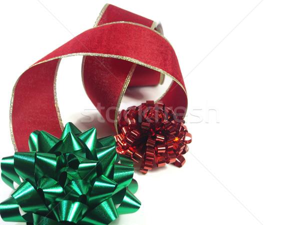 Natal vermelho verde arco Foto stock © elvinstar