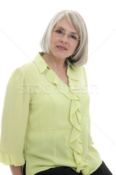 Feliz mujer madura maduro atractivo caucásico mujer Foto stock © elvinstar