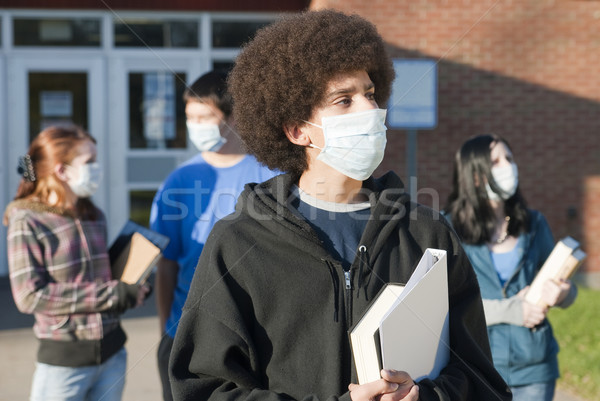 Sertés influenza iskola diákok különböző kisebbségi Stock fotó © elvinstar