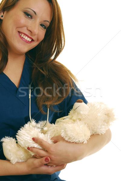 Pediatric nurse Stock photo © elvinstar