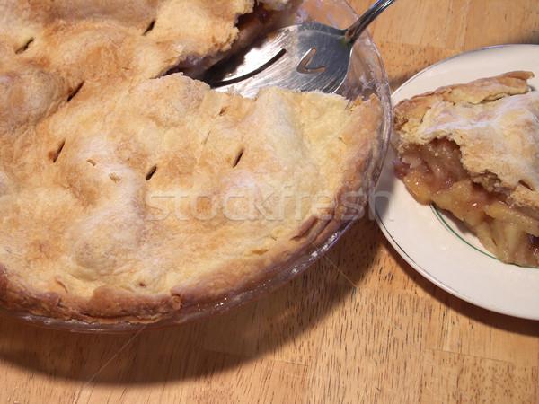 Rebanada pie pastel de manzana corte Foto stock © elvinstar