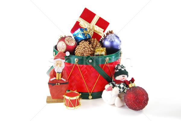 Natal decorações férias vermelho tambor Foto stock © elvinstar