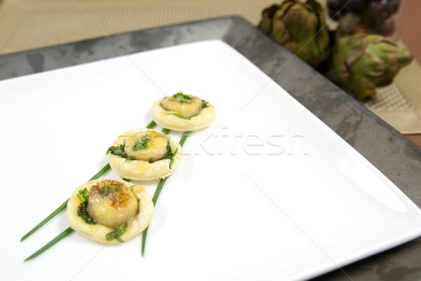 前菜 チャイブ 浅い フォーカス 2番目の ストックフォト © elvinstar
