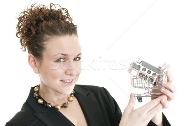 Female real estate agent Stock photo © elvinstar