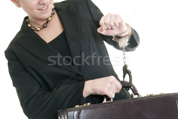 Chained to her work Stock photo © elvinstar